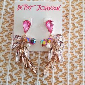 1 hour sale Betsey Johnson crystal earrings